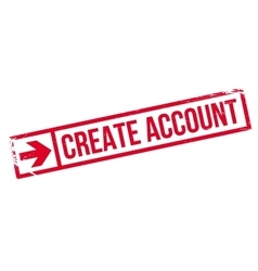 Create account stamp vector