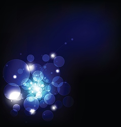 dark light and bokeh background vector image vector image