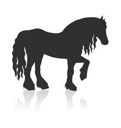 Draft horse in flat design vector