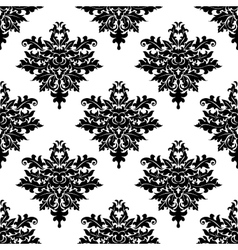 Floral seamless pattern with decorative elements vector image