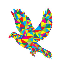 geometric dove flying vector image