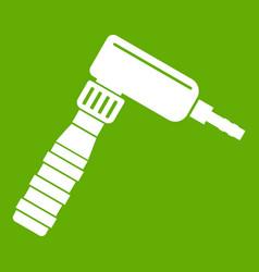 Hand draw rotary tattoo machine icon green vector