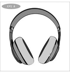 Hand-drawn sketch of headphones 1 vector