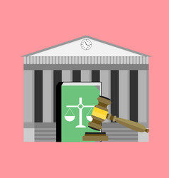 Institute of court and law vector