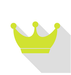 King crown sign pear icon with flat style shadow vector