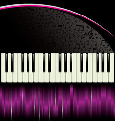 piano purple background vector image
