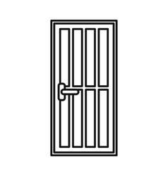 Steel door icon outline style vector