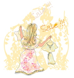 Summer clothes sale vector image