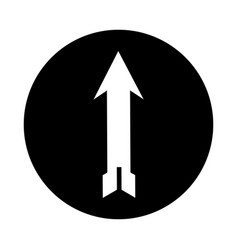 Up arrow isolated icon vector