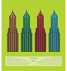 Urban theme vector image