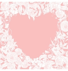 Valentines day and wedding card vector
