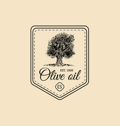 Vintage extra virgin olive oil logo retro vector