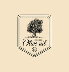 vintage extra virgin olive oil logo retro vector image vector image