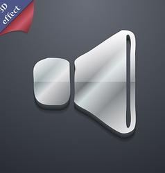 volume sound icon symbol 3D style Trendy modern vector image