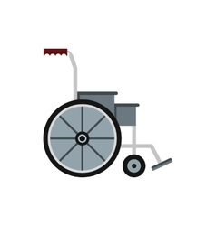 Wheelchair icon in flat style vector image vector image
