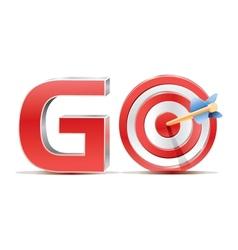 Word go vector image vector image