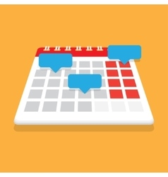 Record in the calendar with reminders vector
