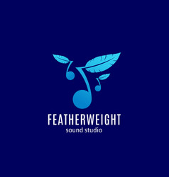 Featherweight sound studio abstract sign vector