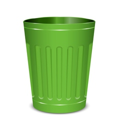 Green garbage can vector
