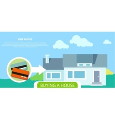 Buying house vector image