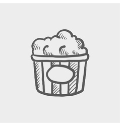 Popcorn sketch icon vector