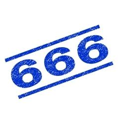666 watermark stamp vector