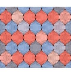 Seamless pattern of interwoven yarn vector image