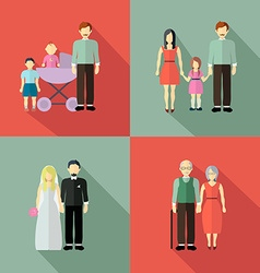 Family figure collection vector