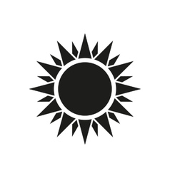 The sun icon sunrise and sunshine weather symbol vector