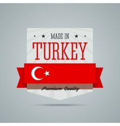 Made in turkey badge vector