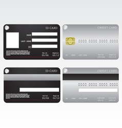 Credit card and id card vector