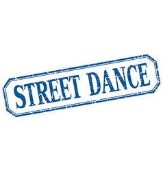 Street dance square blue grunge vintage isolated vector