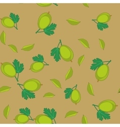 Gooseberry cartoon seamless texture 655 vector image