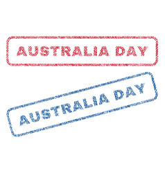 Australia day textile stamps vector