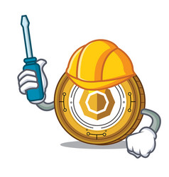 Automotive komodo coin mascot cartoon vector