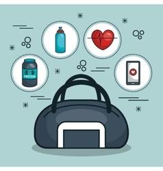 Bag and kit gym concept vector