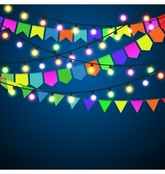 Christmas Lights Background vector image vector image