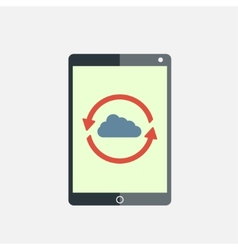 Cloud computing tablet vector image