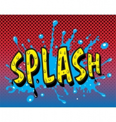 comic book splash vector image