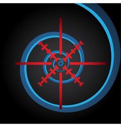 Crosshair vector image vector image