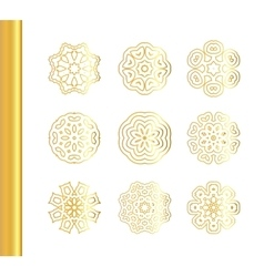 Elegant floral mandala background with gold vector
