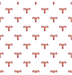 Female reproductive system pattern seamless vector