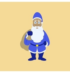 flat on background of Santa Claus vector image