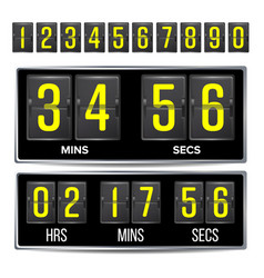 flip countdown timer black flip scoreboard vector image