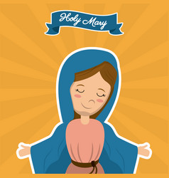 Holy mary christian mother saint image vector