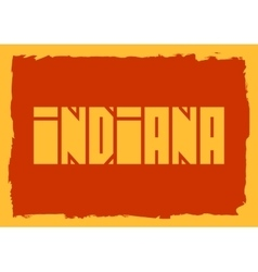 Indiana state name vector image