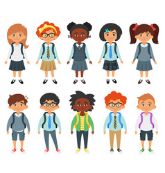international school kids vector image vector image