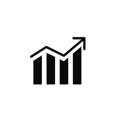 isolated progress icon growth element can vector image