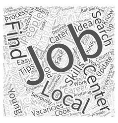 Jh successful local job search word cloud concept vector