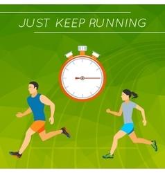 Just keep running vector